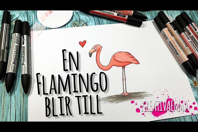 flamingo tecknad