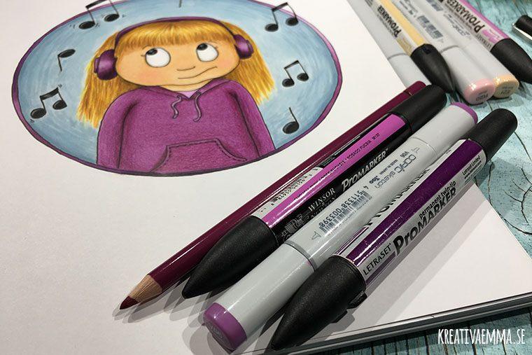 pennor och illustration