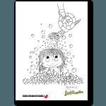 mona-li tvättar håret målarbild