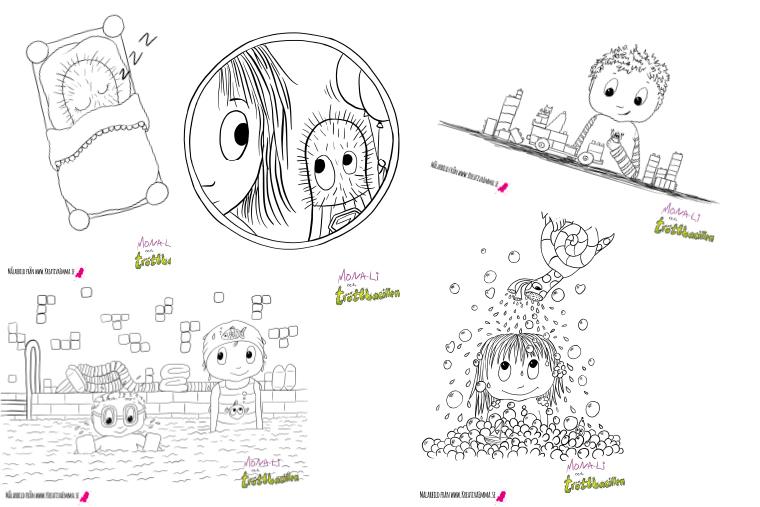 målarbilder mona-li och tröttbacillen