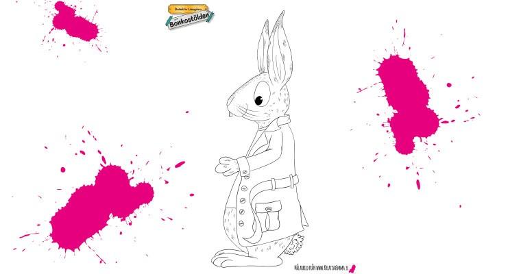 detektiv långöra kanin illustration